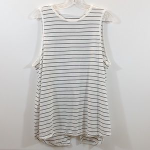 Crane Open Back  Striped Shirt || L || NWOT ||